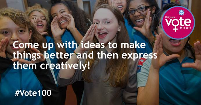 Come up with ideas to make things better and then express them creatively
