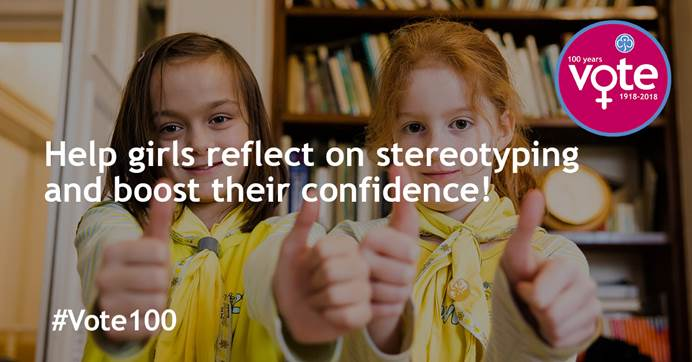 Help girls reflect on stereotyping and boost their confidence
