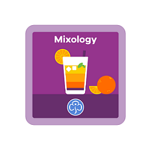Graphic of mixology badge