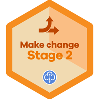 Girlguiding Badge /'Go For It/' Be The Change
